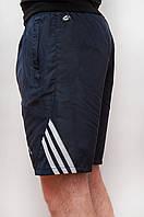 Мужские спортивные шорты плащевка темно синего цвета