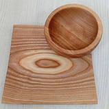 Посуда из ясеня круглая, треугольная, квадратная, фото 4