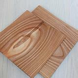 Посуда из ясеня круглая, треугольная, квадратная, фото 3