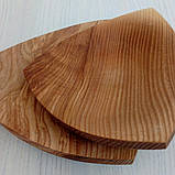 Посуда из ясеня круглая, треугольная, квадратная, фото 2