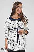 Изысканная блузка для беременных Meriot, котики на молоке, фото 1