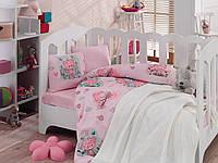 """Детское постельное бельё в кроватку Cotton Box с вязаным пледом """"Mini"""" 100% хлопок"""