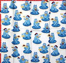 Серветки декупажні Сині жаби 1579