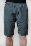 Чоловічі шорти (плащівка), сірого кольору, фото 2