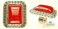 Колечко красный камень свободный размер