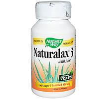 Натуральное слабительное Naturalax 3 с алое, Nature's Way, 430 мг, 100 капсул. Сделано в США.