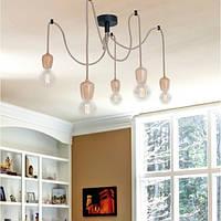 Светильник подвесной Loft [ Pendant Wood Spider -5 ]