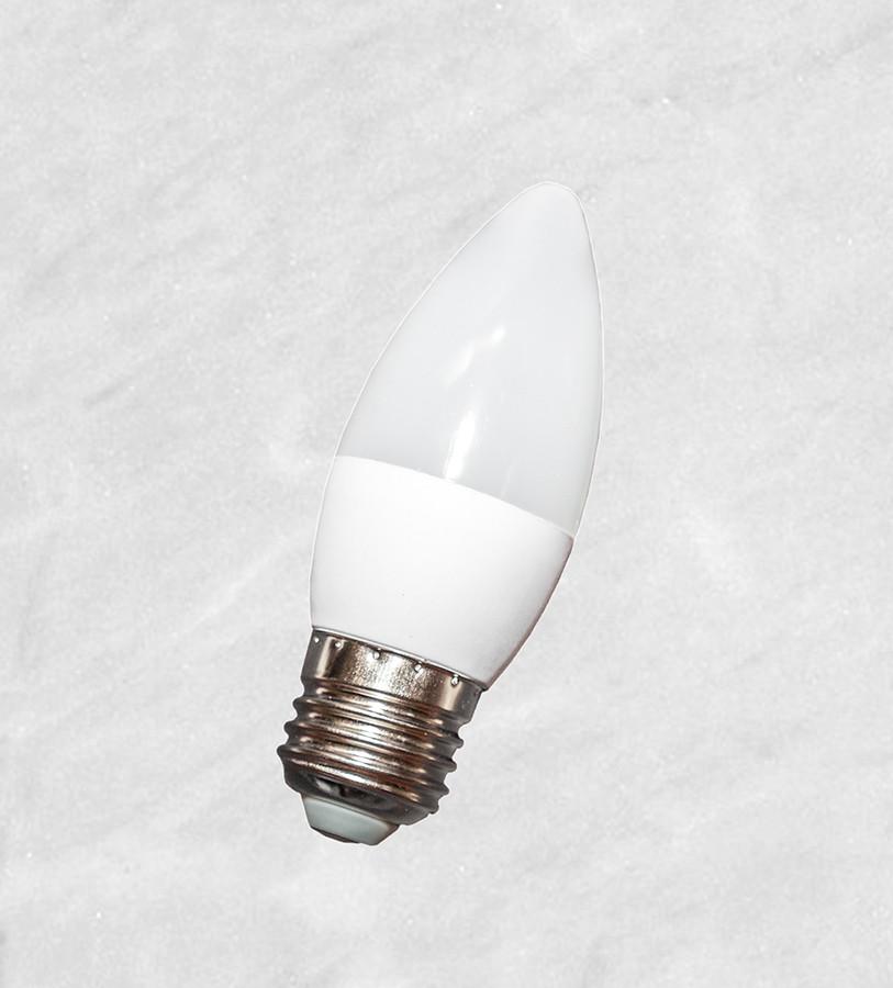 Лампочка LED 6W (C37 свечка) E27