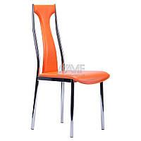 Стул KSD-022C Хром/Оранжевый, фото 1