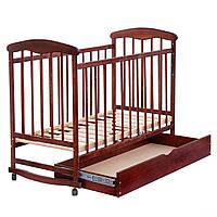 Кроватка детская из дерева на колесах Наталка