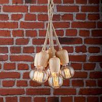 Светильник подвесной Loft [ Pendant Wood Spider Assembly -5 ]