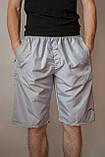 Чоловічі шорти (плащівка), світло-сірого кольору, фото 2