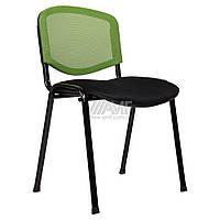 Стул Изо Веб Лак черный, сиденье Сетка черная/спинка Сетка салатовая, фото 1