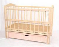 Кроватка детская деревянная маятник