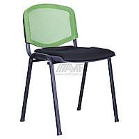 Стул Призма Веб черный сиденье Сетка черная/спинка Сетка лайм, фото 1
