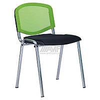 Стул Призма Веб хром сиденье Сетка черная/спинка Сетка салатовая, фото 1