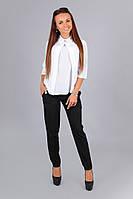 Элегантная шифоновая белая блузка