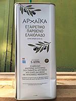 Масло оливковое 5л ( Греция) Первый холодный отжим. , фото 1