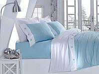 Постельное белье Cotton box сатин-люкс однотонный  Евро Mavi