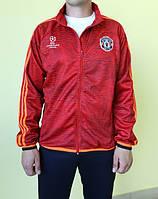 Мужская толстовка Adidas 95989 красно-черная с оранжевым код 199в