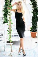 Черное короткое платье без рукав