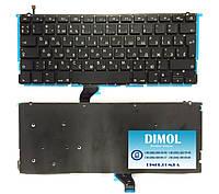 """Оригинальная клавиатура для Apple Macbook pro Retina 13.3"""" A1502 black, ru, посветка"""
