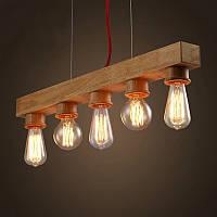 Светильник подвесной Loft [ Pendant Wood Group of Industrial ]