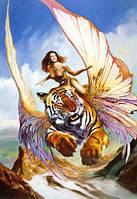 Пазл Девушка и тигр 1500 деталей С-150489