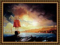 Картина в багетной раме Вход в порт 300х400мм №358