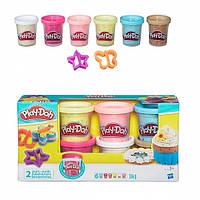 Набор массы для лепки Hasbro Play-Doh 6 баночек с конфетти (B3423)