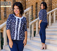 Блуза женская большого размера ткань креп-шифон, 3 расцветки ,супер качество дг №1221
