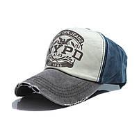 Бейсболка New York Police Department (NYPD) Серо-синяя, Унисекс