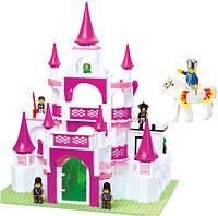 Конструктор «Замок для принцессы» Sluban M38-B0151, Розовая мечта, 508 деталей, мини-фигурки, от 6 лет