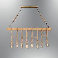 Світильник підвісний Loft [ Pendant Wood Group industrial rope +8 ]