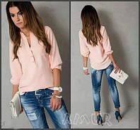 Блуза женская Ткань котон хб, Пуговки не расстегиваются Рукав длинный на резиночке, 4 расцветки сопт №105130