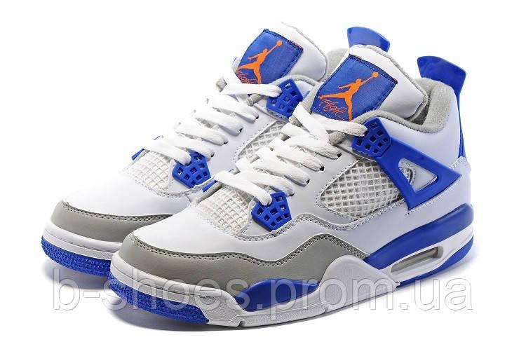 Мужские Кроссовки Nike Air Jordan Retro 4 (Deep Royal Blue)