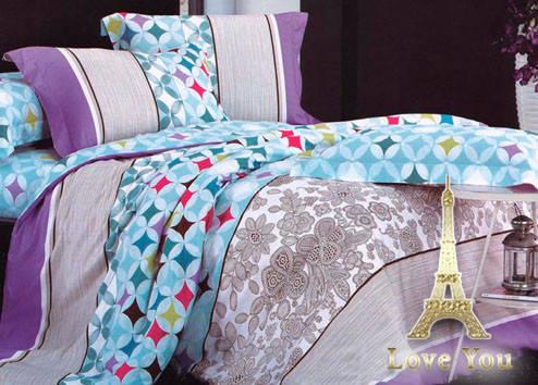 Комплект постельного белья Евро Love You Сатин-лайт 200Х220 TL 12141, фото 2