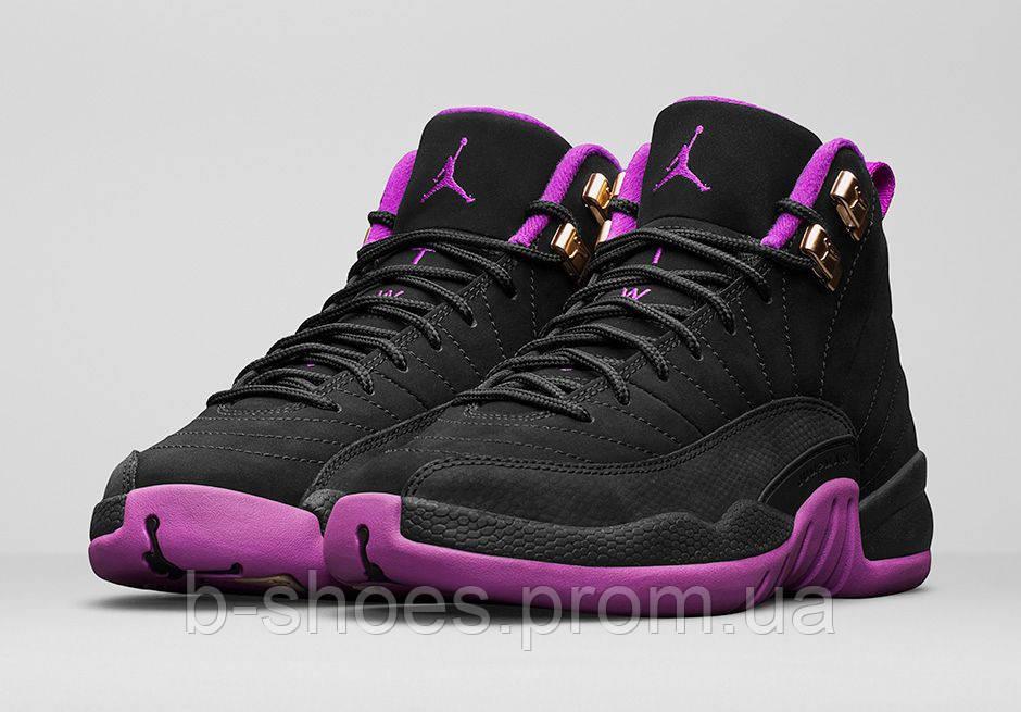 Женские баскетбольные кроссовки Nike Air Jordan 12 GS (Hyper Violet)
