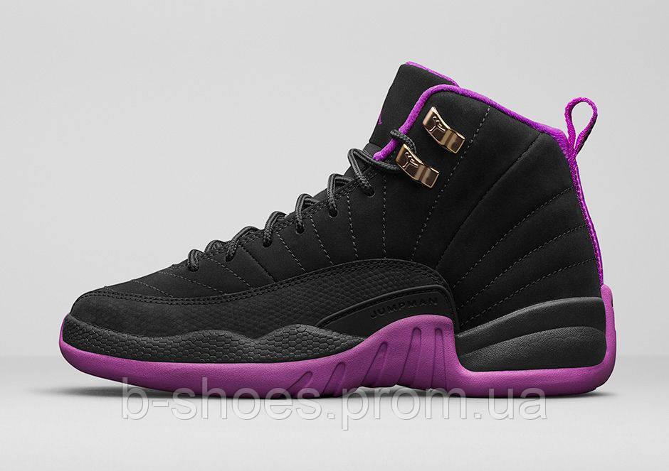 24f357b6 Женские баскетбольные кроссовки Nike Air Jordan 12 GS (Hyper Violet), ...