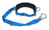 Пояс предохранительный безлямочный с ленточным стропом и большим карабиньм (4ПБ)