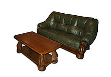 """Раскладной кожаный диван  """"Sanremo"""" в комплекте с креслом, фото 3"""