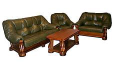 """Раскладной кожаный диван  """"Sanremo"""" в комплекте с креслом, фото 2"""
