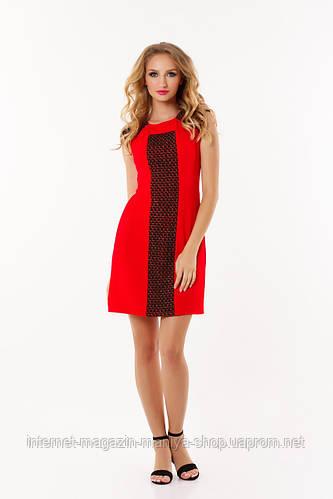 Платье женское вставка гипюр