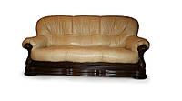 """Новый раскладной диван в коже """"Senator"""" бежевый (230см)"""