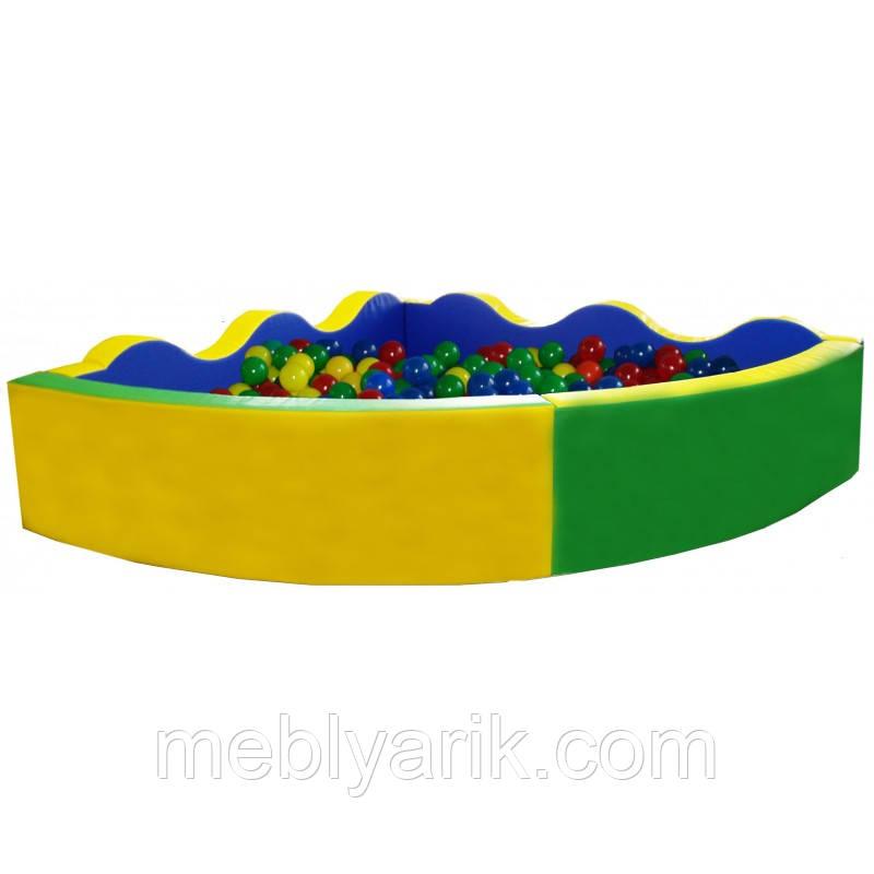 Сухой бассейн угловой D 200 В 60