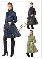Пальто женское стеганое демисезонное