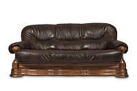 """Новый раскладной диван в коже """"Senator"""" коричневый (230см)"""
