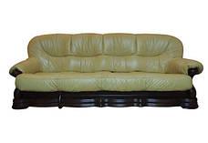 """Новий 4-х місний розкладний диван у шкірі """"Senator"""" коричневий (290см), фото 3"""