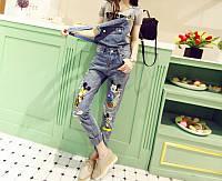 Комбинезон джинсовый женский W34 Комбинезоны джинсовые