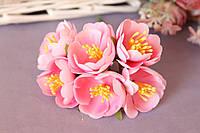 "Цветочки ""Марта"" 3,5-4 см, 36 шт/уп. розового цвета"